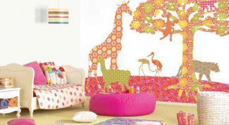 Простейшие способы применить остатки обоев для отделки детской комнаты