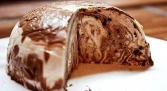 Как приготовить мраморный творожный десерт