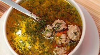 Как приготовить простой суп с фрикадельками