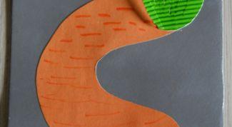"""Учим английские буквы: поделка с буквой С (""""carrot """" значит «морковка»)"""