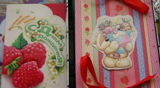 Открытка со сладостями с сюрпризом внутри