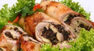 Простые и вкусные куриные рулеты с черносливом в духовке