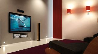 Plasma TV as part of a home theater system