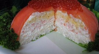 Оригинальный рыбный торт к праздничному столу