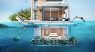 In UAE create a houseboat with a private reef