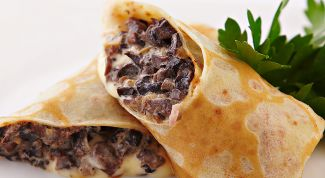 Pancakes with mushrooms