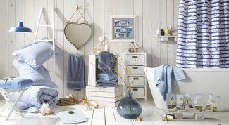 Украшение ванной комнаты. Морской стиль