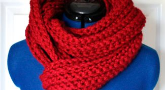 How to tie a long scarf on two needles