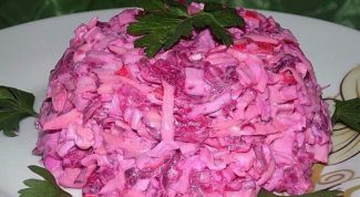 Теплый салат «Розовый фламинго»