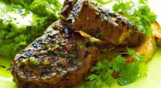 Roasted steak of lamb with mint