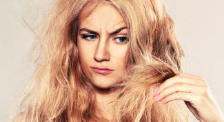 Сухие волосы: причины и уход