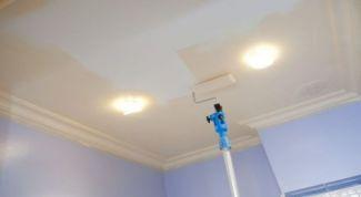 Какую краску использовать для потолка в ванной