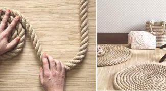 Как сделать коврик из толстой веревки просто и быстро