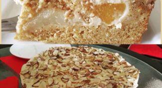Как приготовить быстрый торт с грушами и персиками