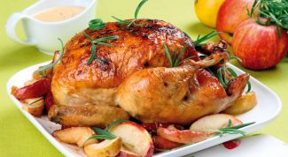 Baked with oranges and ginger chicken