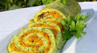 How to prepare pumpkin rolls with chicken and cheese
