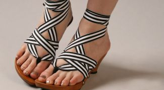 New stylish summer shoes. Fashion trends