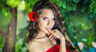 Красный - цвет роковой женщины