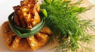 Вкусные блинчики с легким салатом