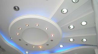 Как подшить потолок гипсокартонными панелями