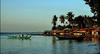 Город Кеп в Камбодже