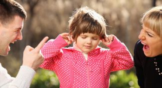 The effects of divorce and parental behavior on the child's psychological condition