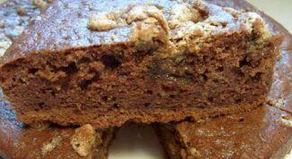 Шоколадный маково-ореховый манник