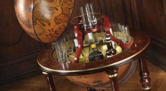 Глобус-бар: оригинальный подарок и украшение интерьера