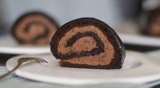 Кофейный рулет с шоколадом