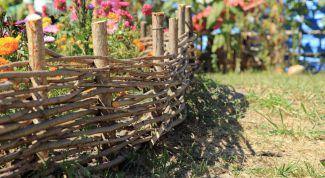 Ландшафтный дизайн: плетень