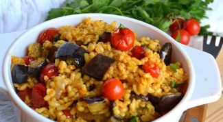Baked with vegetables and bulgur