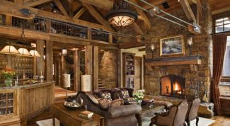 Interior decoration living room in a country house