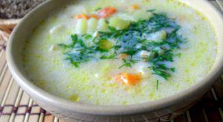 Milk-vegetable soup