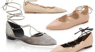 Носим правильно балетки на шнуровке