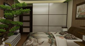 Japanese bedroom for modern apartment