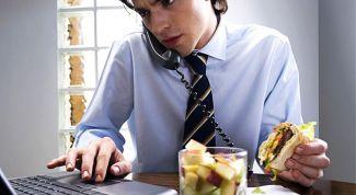 Работа и диета диабетика