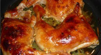 Как приготовить куриные окорочка с сюрпризом