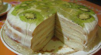 Sponge cake Kiwi