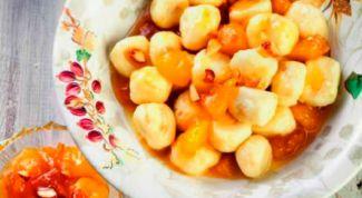 Ньокки с абрикосами