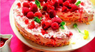 Малиново-сметанный тарт