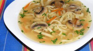 Суп из свежих лесных грибов в мультиварке
