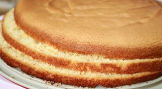 Бисквитный корж в микроволновой печи