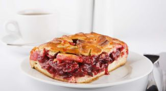Воздушный вишневый пирог