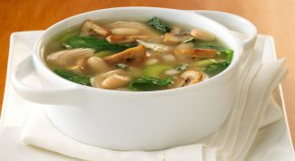 Грибной суп с галушками