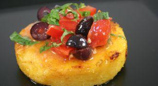 Polenta with grilled vegetables