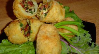 Appetizer Balls with cheese and ham