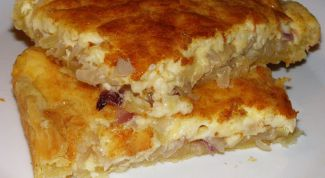 Pie with onions and cheese