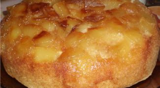 Honey pudding with pears