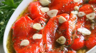 Appetizer of roasted peppers