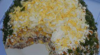 Салат со сливами и куриным филе